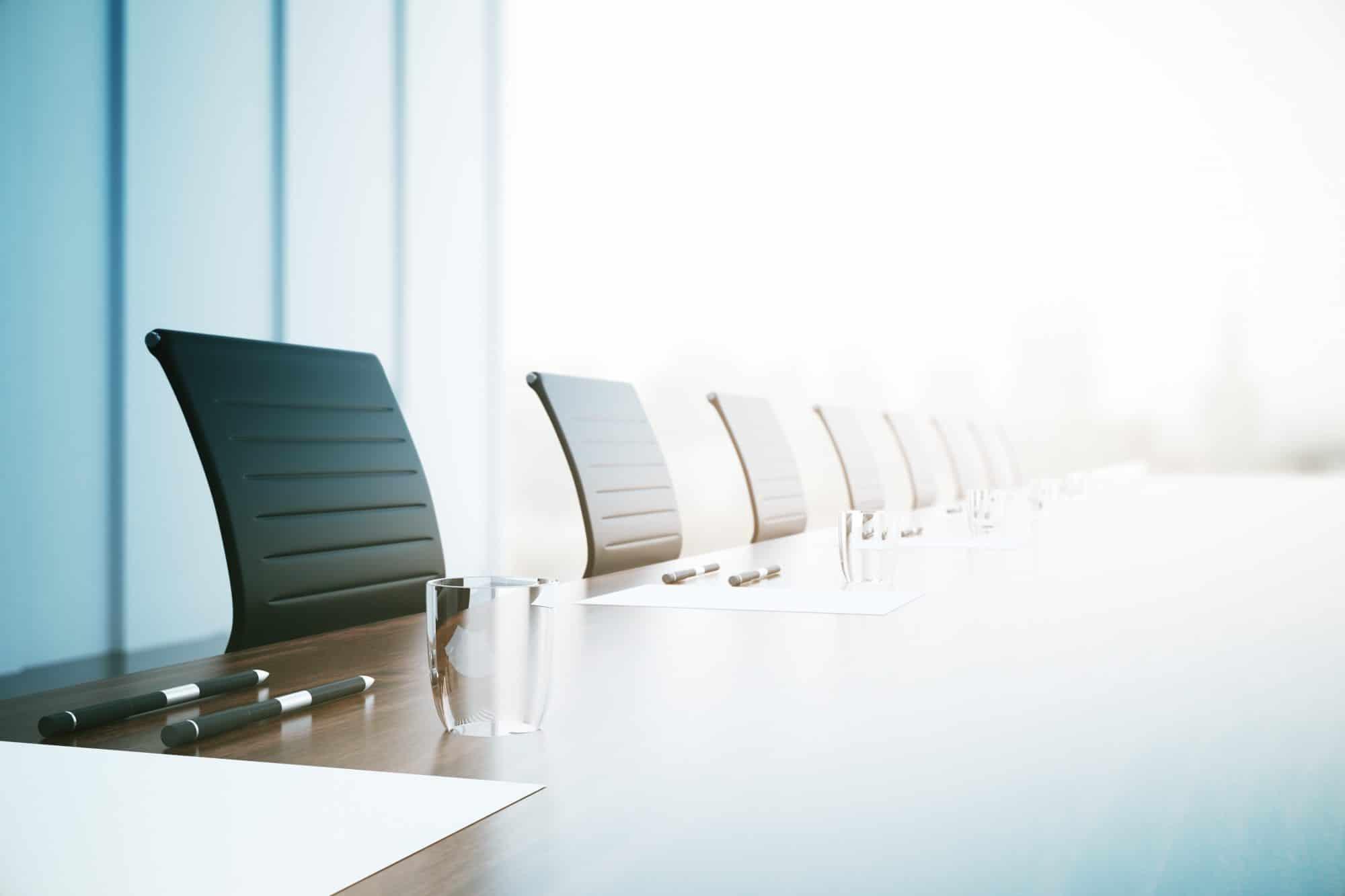 Visuel d'une salle de réunion pour la compétence en actionnariat d'entreprise du cabinet IXIS