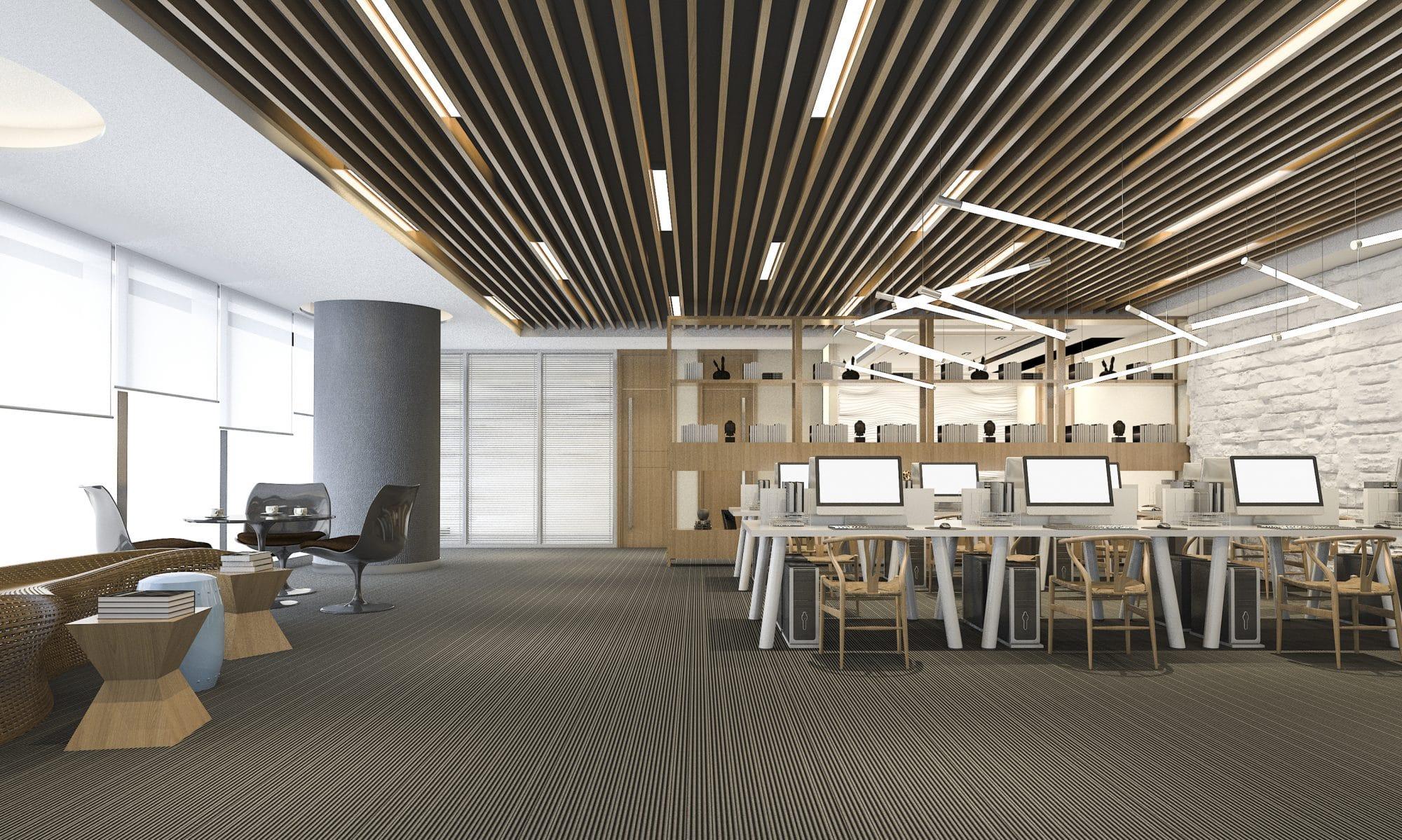 Photo d'un open-space pour valoriser l'accompagnement de start Up par IXIS