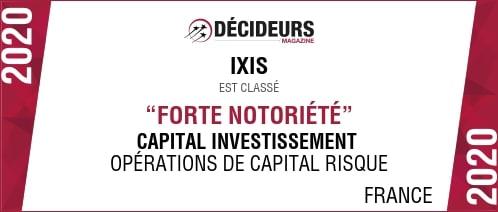 Visuel du classement du cabinet IXIS